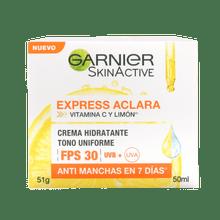 Crema Aclarante Fps 30 y Vitamina C Express Aclara Garnier